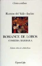 romance de lobos-ramon maria del valle inclan-9788423938759