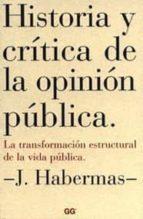 historia y critica de la opinion publica jurgen habermas 9788425220159