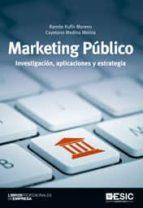 marketing publico: investigacion, aplicaciones y estrategia-ramon rufin moreno-9788473568159