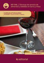 (i.b.d.)tecnicas de servicio de alimentos y bebidas en barra y mesa hotr0508   servicios de bar y cafeteria 9788483646359