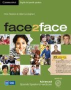 face2face for spanish speakers second edition packs advanced pack (student s book with dvd-rom, spanish speakers     handbook with cd, workbook with key)-9788490363959