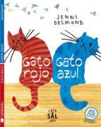 gato rojo, gato azul jenni desmond 9788494113659