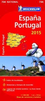 mapa españa   portugal  2015 ref. 11734 9782067199569