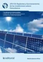 replanteo y funcionamiento de instalaciones solares fotovoltáicas. enae0108 (ebook) 9788417224769