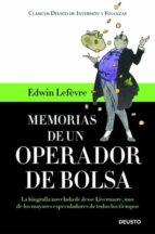 memorias de un operador de bolsa edwin lefevre 9788423427369