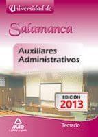 auxiliar administrativo universidad salamanca: temario-9788467694369