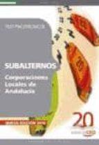SUBALTERNOS DE CORPORACIONES LOCALES DE ANDALUCIA. TEST PSICOTECN ICOS