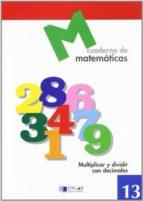 cuaderno de matematicas, nº 13 9788489655669
