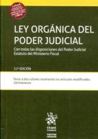 ley organica del poder judicial 21ª ed 2017 9788491691969