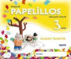 PAPELILLOS 3 AÑOS. 2º TRIMESTRE (EDUCACION INFANTIL)