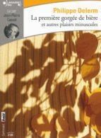 la premiere gorgee de biere et autres plaisirs minuscules (cd)-philippe delerm-9782070149179