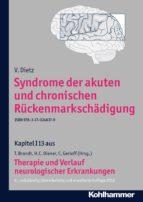 syndrome der akuten und chronischen rückenmarkschädigung (ebook) v. dietz 9783170246379