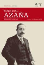 obras completas (tomo i) 1897 1920 manuel azaña 9788430606979