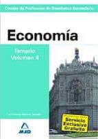 CUERPO DE PROFESORES DE ENSEÑANZA SECUNDARIA: ECONOMIA: TEMARIO: VOLUMEN III