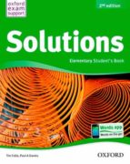 solutions elem student book 2 9788467381979