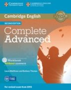 complete advanced workbook without answers with audio cd 2nd edition-9781107631489