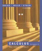 calculus (vol. ii): una y varias variables (4ª ed.)-garret j. etgen-9788429151589