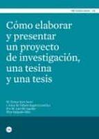 como elaborar y presentar un proyecto de investigacion-mª teresa icart isern-9788447535989