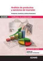 análisis de productos y servicios de inversión 9788490251089