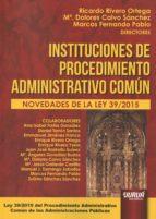 instituciones de procedimiento administrativo común ricardo rivero ortega 9789897123689
