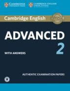 cambridge english: advanced (cae) 2 student s book with answers & audio 9781316504499