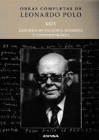 estudios de filosofía moderna y contemporánea leonardo polo 9788431330699