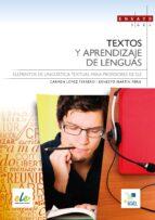 textos y aprendizaje de lenguas 9788497786799