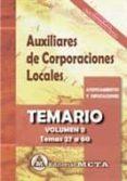 ADMINISTRATIVOS DE CORPORACIONES LOCALES VOLUMEN II - 9788482193809 - MANUEL SEGURA RUIZ