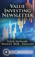 2018 08 VALUE INVESTING NEWSLETTER BY QUANT INVESTING / DEIN AKTIEN NEWSLETTER / YOUR STOCK INVESTING NEWSLETTER (EBOOK) - 9783964770219 - TIM DU TOIT
