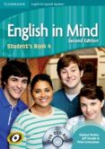 ENGLISH IN MIND FOR SPANISH SPEAKERS LEVEL 4 STUDENT S BOOK WITH DVD-ROM  (2ND EDITION) - 9788483237519 - HERBERT PUCHTA