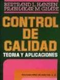 CONTROL DE CALIDAD: TEORIA Y APLICACIONES - 9788487189319 - BERTRAND L. HANSEN