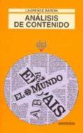 EL ANALISIS DE CONTENIDO - 9788476000939 - LAURENCE BARDIN