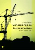 CONCESIONES EN INFRAESTRUCTURA: COMO HACERLO BIEN - 9788495348159 - J. LUIS GUASCH
