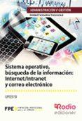 UF0319 SISTEMA OPERATIVO, BUSQUEDA DE LA INFORMACIÓN: INTERNET/ INTRANET Y CORREO ELECTRÓNICO. UF0319. OFIMÁTICA MF0233. FAMILIA:RACIÓN Y GESTIÓN. - 9788416745579 - JOSE LUIS SANCHEZ FERNANDEZ