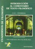 INTRODUCCION AL COMENTARIO DE TEXTO FILOSOFICO (COU-UNIVERSIDAD) - 9788492200979 - VV.AA.