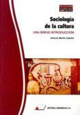 SOCIOLOGIA DE LA CULTURA: UNA BREVE INTRODUCCION - 9788479913489 - ANTONIO MARTIN CABELLO