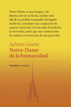 Descarga de libros en pdf. NOTRE-DAME DE LA HUMANIDAD en español de ADRIEN GOETZ 9788412103809