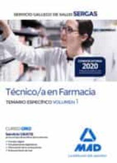 Iguanabus.es Técnico/a En Farmacia Del Servicio Gallego De Salud . Temario Específico Volumen 1 Image
