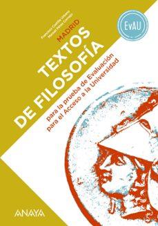 Descargador de libros electrónicos gratis para iphone TEXTOS DE FILOSOFIA PARA LA EVAU 2º BACH MADRID FB2 MOBI