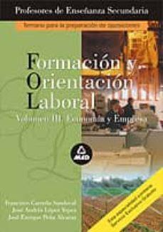 """Padella.mx Formacion Y Orientacion Laboral (Fol): Temario De La Prueba &Quot;a"""": Temario &Quot;a"""" De Oposiciones Al Cuerpo De Profesores De Enseñanza Secundaria Image"""