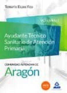 cuerpo de funcionarios técnicos de la administración de la comunidad autónoma de aragón, escala técnica sanitaria, ayudantes-9788490931509