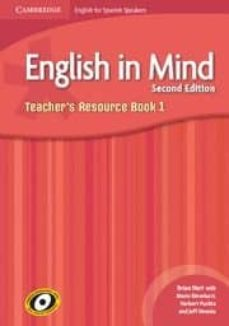 Descarga gratis libros para leer. ENGLISH IN MIND FOR SPANISH SPEAKERS LEVEL 1 TEACHER S RESOURCE B OOK WITH CLASS AUDIO CDS (3)  9788483236819