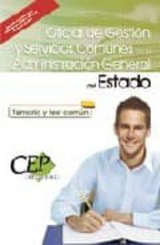 Inmaswan.es Oficial De Gestion Y Servicios Comunes Administracion General Del Estado. Temario Y Test Comun Image