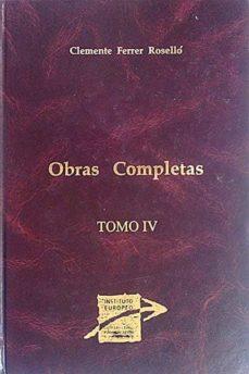 Viamistica.es Clemente Ferrer Roselló. Obras Completas Iv Image