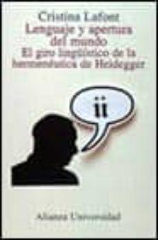Upgrade6a.es Lenguaje Y Apertura Del Mundo: El Giro Lingüistico De La Hermeneu Tica De Heidegger Image