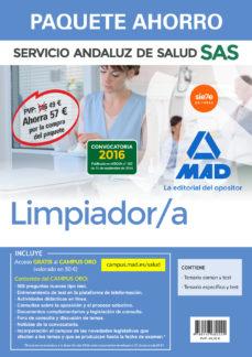 paquete ahorro limpiador del servicio andaluz de salud (incluye temario común y test; temario específico y test; acceso campus oro)-9788467682229