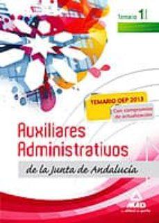 Geekmag.es Auxiliares Administrativos De La Junta De Andalucia. Temario Volu Men I Image