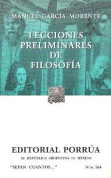 Geekmag.es Lecciones Preliminares De Filosofia (18ª Ed.) Image