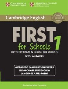 cambridge english first 1 for schools for revised exam from 2015 student s book with answers-9781107647039