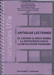 Libros electrónicos gratis para descargar a ipad ANTIQUAE LECTIONES 9788413200439 MOBI iBook CHM
